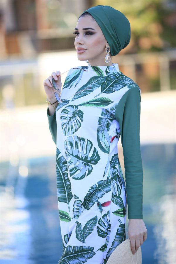 Green Leaves Full Coverage Burkini