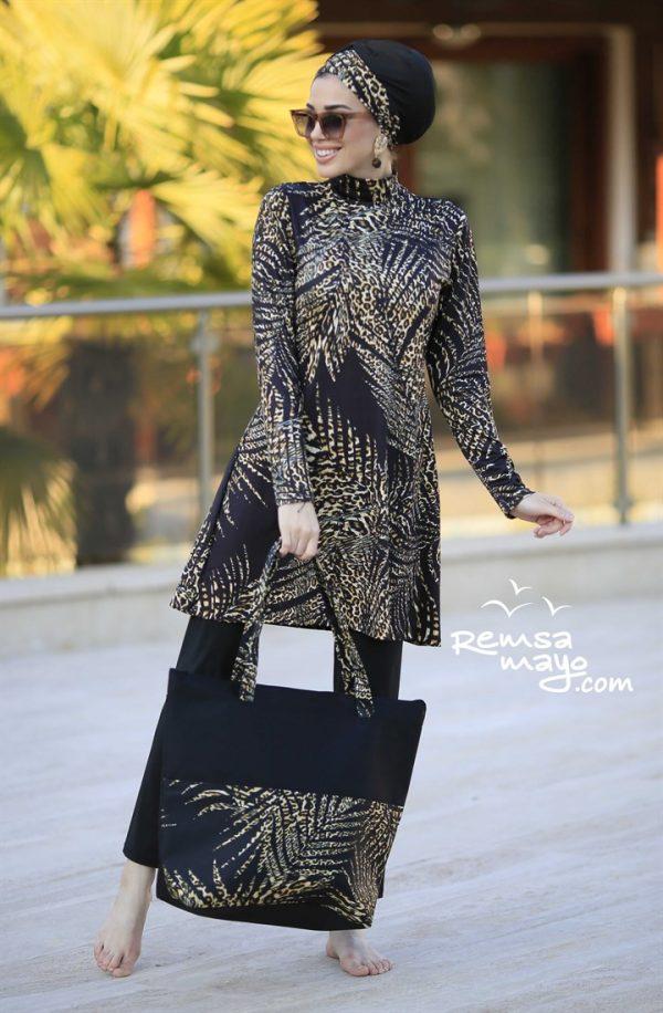 Leopard Lycra Fabric Burkini