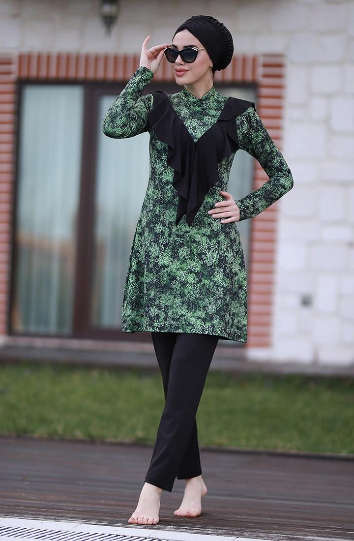 Green Leopard Burkini 1