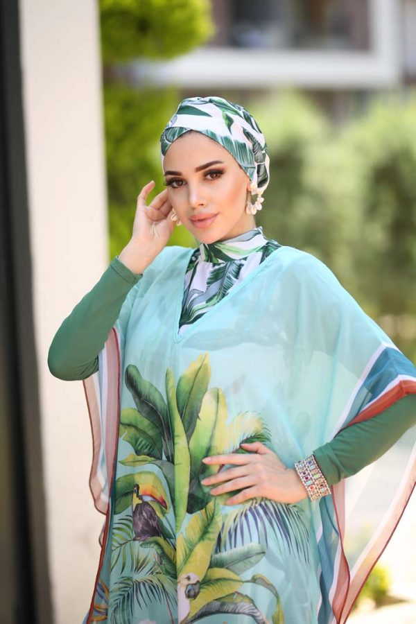 Green Dreams Kaftan (Pareo)